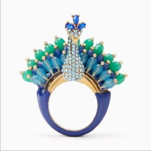 kate spade Plume Peacock Ring Green | Blue